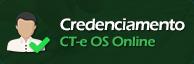 credenciamento CT-e OS online.